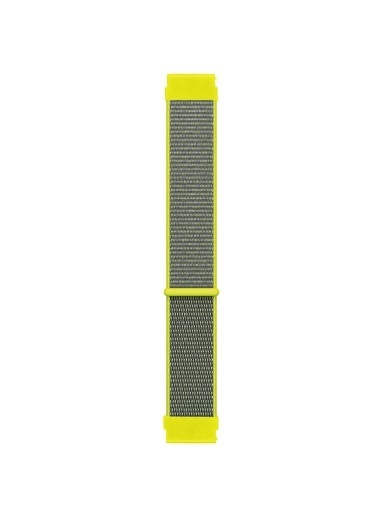 Microsonic Realme Rma207 Watch S Hasırlı Kordon Woven Sport Loop Beyaz Sarı